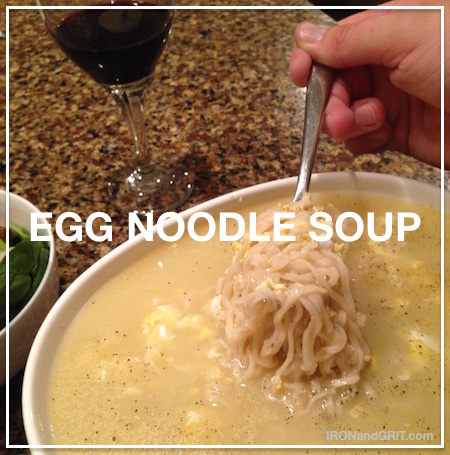 Egg noodle soup recipe best value in bodybuilding
