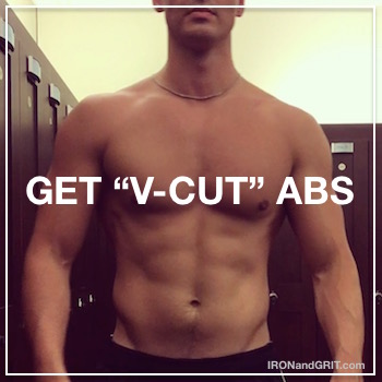how to get v-shape ab lines V-Cut abs