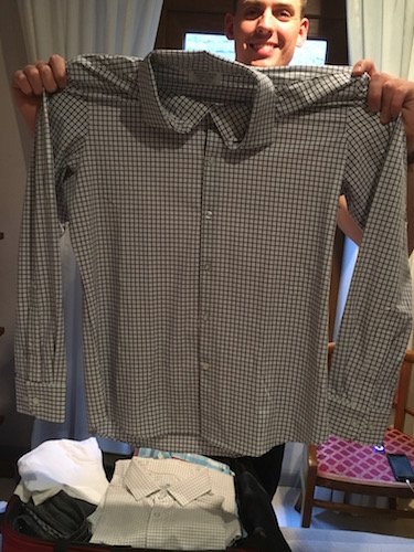 mizzen and main best dress shirt for athletic guys